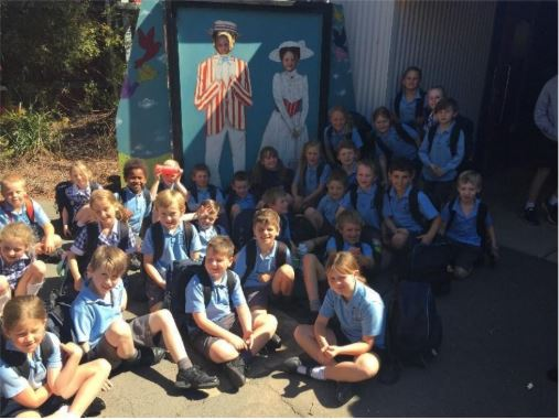 St Marys students attend the Mary Poppins performance